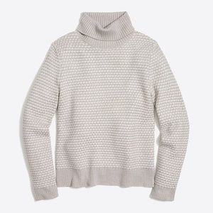 J. CREW Textured Fitted Turtleneck Sweater XS